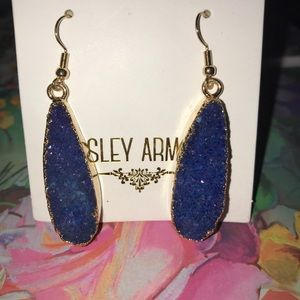 Kinsley Armelle Jewelry - NEW Kinsley Armelle Druzy- Denim Drop Earrings
